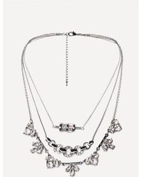 Bebe - Crystal 3-layer Necklace - Lyst