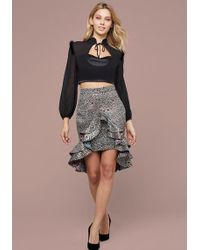 Bebe - Alexa Jacquard Ruffle Skirt - Lyst