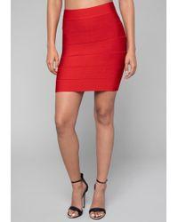 Bebe - Solid Bandage Skirt - Lyst