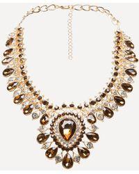 Bebe | Crystal Drop Necklace | Lyst