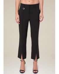 Bebe - Vented Flare Crop Pants - Lyst