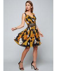 Bebe - Alex Pleated Day Dress - Lyst