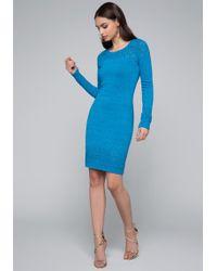 Bebe - Luna Pointelle Dress - Lyst