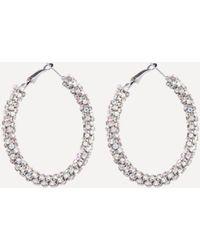 Bebe - Crystal Thick Hoop Earrings - Lyst