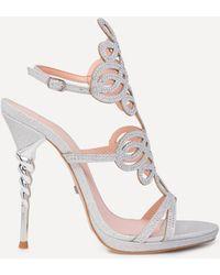 Bebe - Delja Jeweled Sandals - Lyst