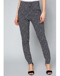 Bebe - Ally Polka Dot Skinny Trousers - Lyst