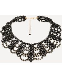Bebe - Beaded Collar Necklace - Lyst