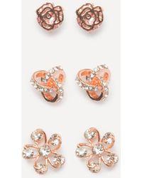 Bebe - Floral Stud Earring Set - Lyst