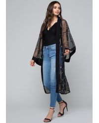 Bebe - Embroidered Duster - Lyst