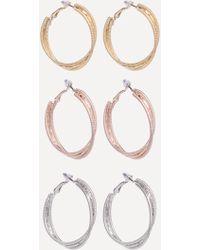 Bebe - Multi-hue Hoop Earring Set - Lyst