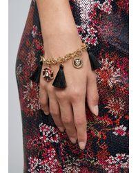 Bebe - Tassel Charm Bracelet - Lyst