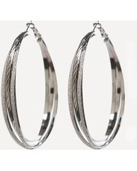 Bebe - Stardust Hoop Earrings - Lyst