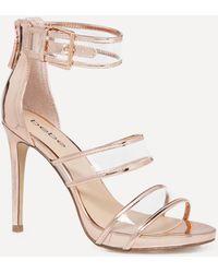 Bebe - Auhdrey Clear Strap Sandals - Lyst