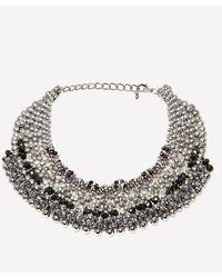 Bebe - Beaded Collar Necklace - Lyst