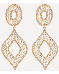 Bebe - Filigree Statement Earrings - Lyst