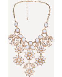 Bebe - Floral Necklace - Lyst