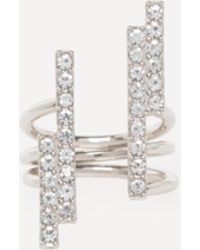 Bebe - Crystal Bars Ring - Lyst