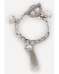 Bebe - Pearl Detail Charm Bracelet - Lyst