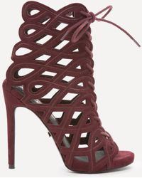 Bebe - Kimmie Swirl Cage Booties - Lyst