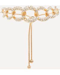 Bebe - Glam Gold Chain Bracelet - Lyst