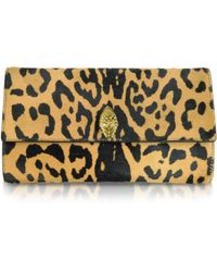 Roberto Cavalli Serpent Mini Jaguar Printed Haircalf Clutch - Lyst