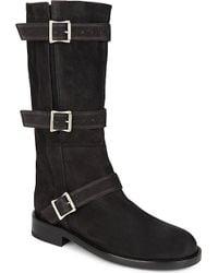 Ann Demeulemeester Leather Biker Boots - Lyst