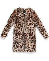 Loeffler Randall - Shearling Cheetah-print Coat - Lyst