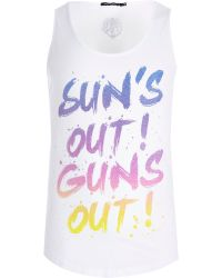 River Island White Friend Or Faux Suns Out Print Vest - Lyst