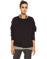 Etoile Isabel Marant Rikers Draped Lambswool Sweater - Lyst