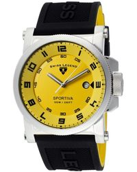 Swiss Legend - Mens Sportiva Yellow Dial Wblack Accent Blackyellow Silicone Sl07 Watch - Lyst