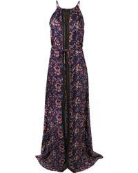 Veronica Beard Halter Maxi Dress - Lyst