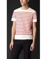 Burberry Breton Stripe Cotton Tshirt - Lyst