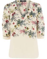 Oasis Flower Garden Tegan Top - Lyst