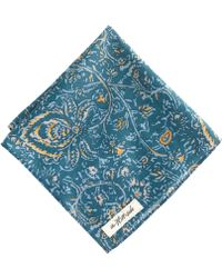 J.Crew The Hillside Cottonlinen Pocket Square in Victorian Paisley - Lyst