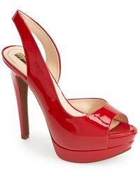 Jessica Simpson 'Sabella' Slingback Half D'Orsay Sandal red - Lyst