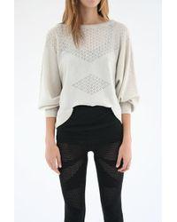 Micaela Greg - Lace Sweater - Lyst