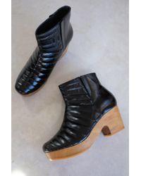 Beklina - Ribbed Boot Clog Black - Lyst