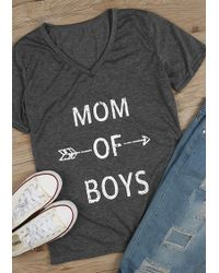 a100e8a73 Belle lily Blessed With Boys T-shirt in Black | Lyst