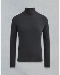 Belstaff - Engineered Roll Neck - Lyst