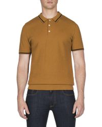 Ben Sherman - Textured Knitted Polo - Lyst