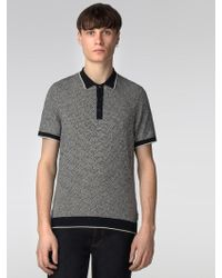 Ben Sherman - The Distorted Argyle Polo Knit - Lyst