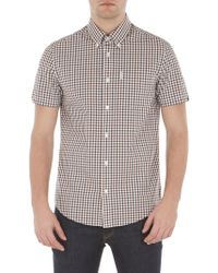 Ben Sherman - Short Sleeve Mid Scale House Gingham Shirt - Lyst