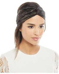 Jennifer Behr | Satin Metallic Head Wrap | Lyst