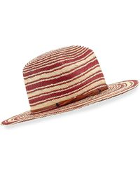 Yestadt Millinery - Somba Patterned Straw Fedora Hat - Lyst