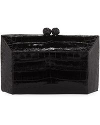 Nancy Gonzalez - Gramercy Faceted Crocodile Minaudiere Clutch Bag - Lyst