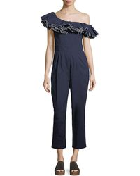 Sea - Carmen Ruffled One-shoulder Jumpsuit - Lyst