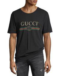 Gucci - Washed T-shirt W/gg Print - Lyst