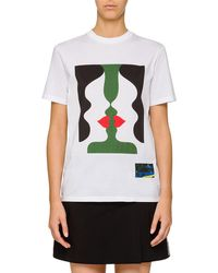Prada - Illusion Graphic T-shirt - Lyst