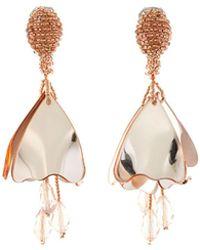 Oscar de la Renta   Mini Impatiens Flower Drop Earrings   Lyst