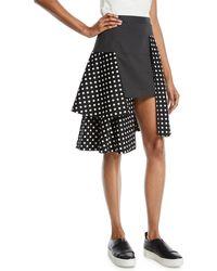 Paskal - Dotted Overlap Skirt - Lyst